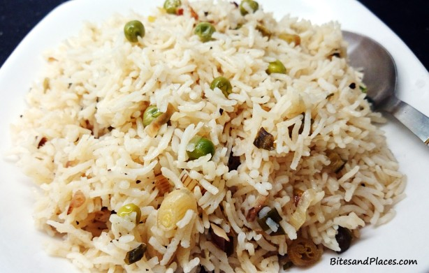 Peas and Scallion Rice