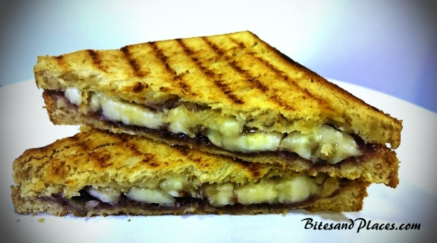 Banana Bluberry jam sandwich