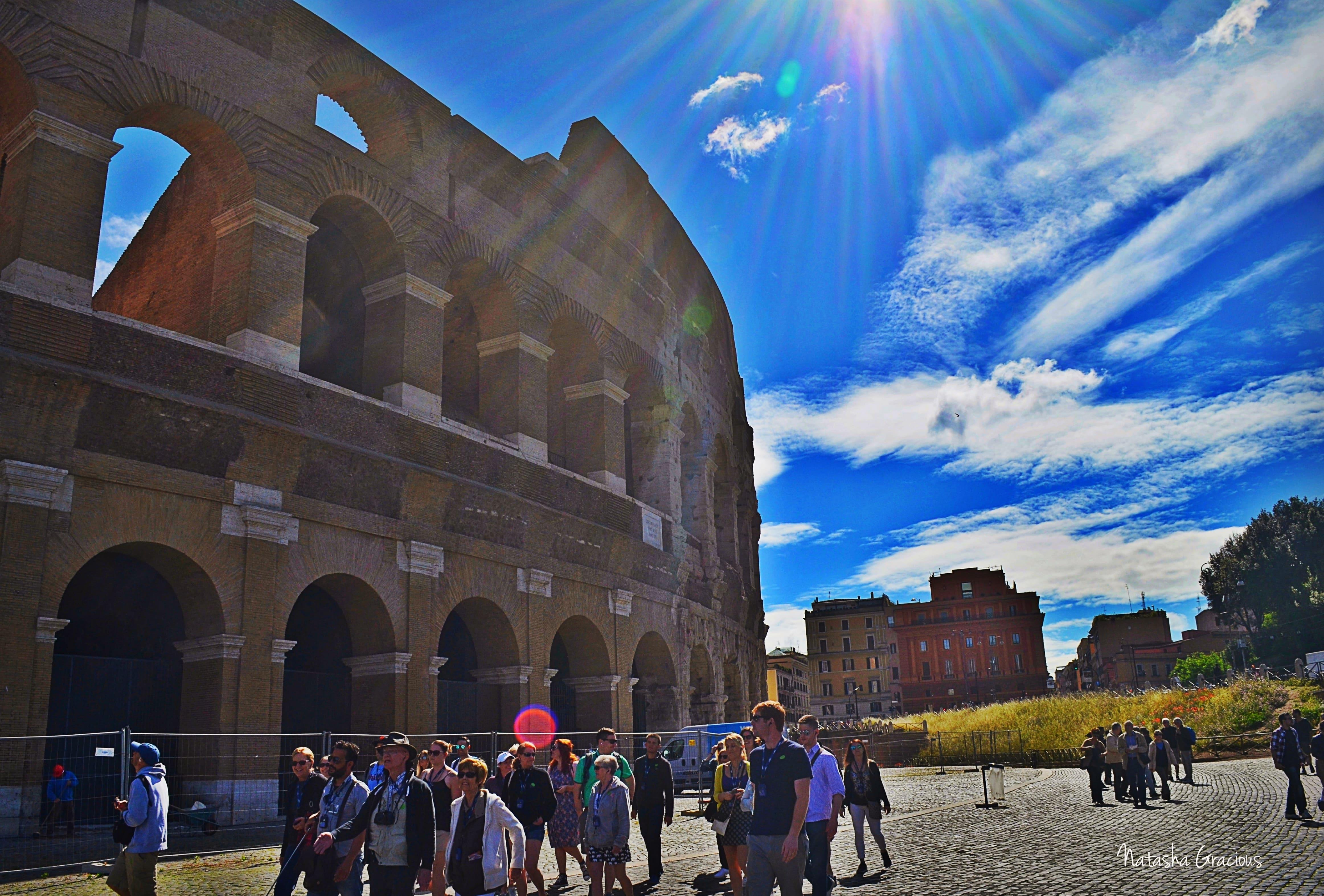 Colosseum outside sky